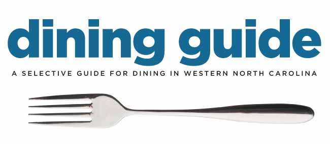 Dining guide wnc magazine for Restaurant guide