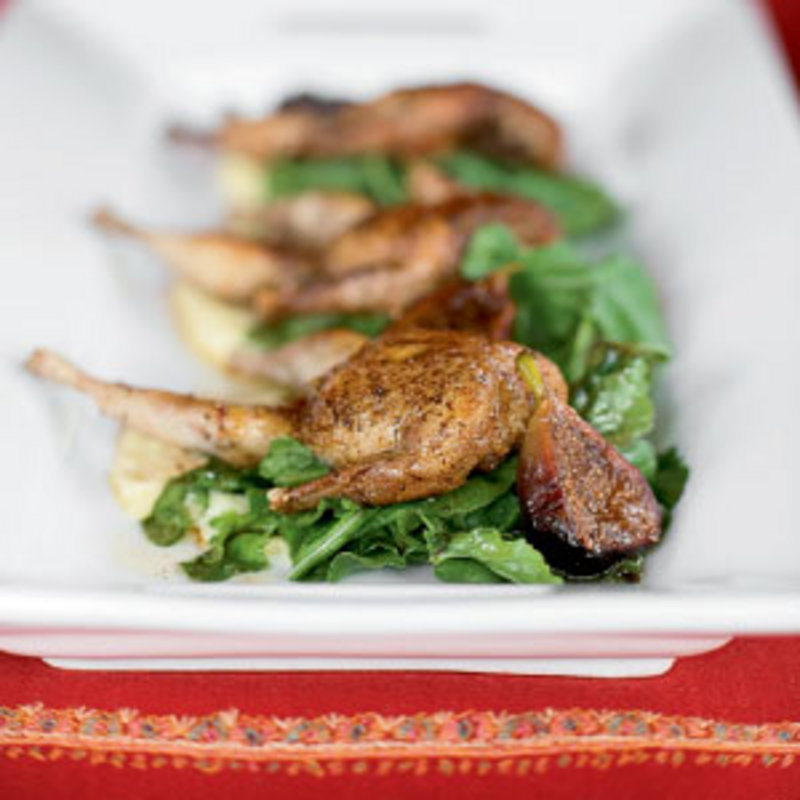 Pan-roasted Quail with Mission Fig Brown Butter & Parsnip Purée | WNC ...