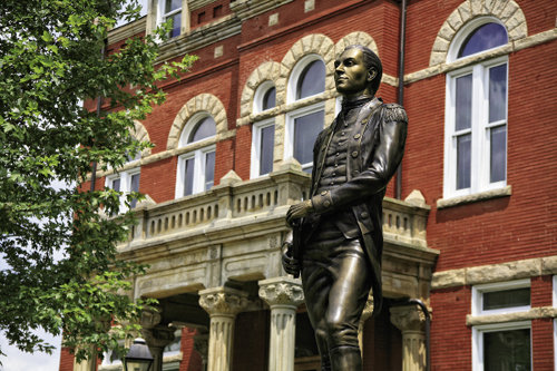 Founded in 1873, Fayetteville is named for George Washington's Revolutionary War advisor Marquis de Lafayette, whose statue stands on the courthouse lawn.