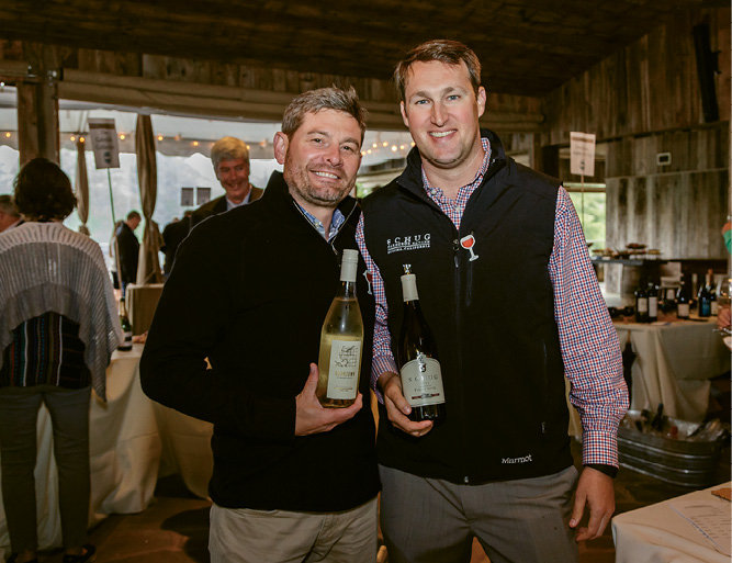Winemaker Chad Johnson of Boomtown Wines with John Sanders of Schug Wines