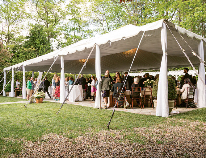The Farm at Old Edwards was an elegant locale for the Champagne Laurent-Perrier reception.