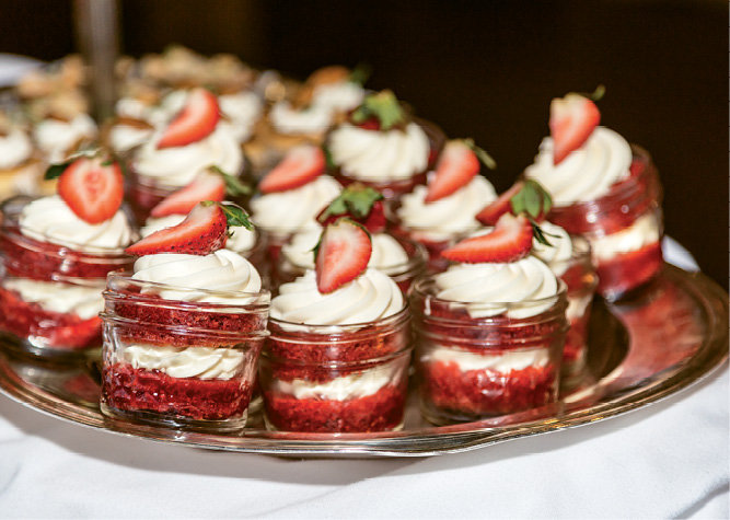A decadent display of desserts was created by Old Edwards Inn's Executive Chef Chris Huerta.
