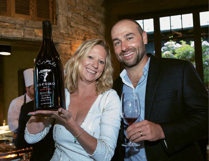 Epiphany Wine Company's Gwen Collins and winemaker Erik Miller of Kokomo Winery