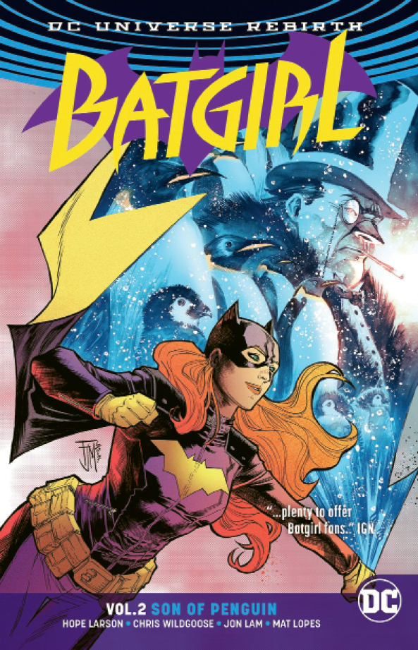 In 2016, Larson began writing the monthly Batgirl series for comic giant  DC Comics.