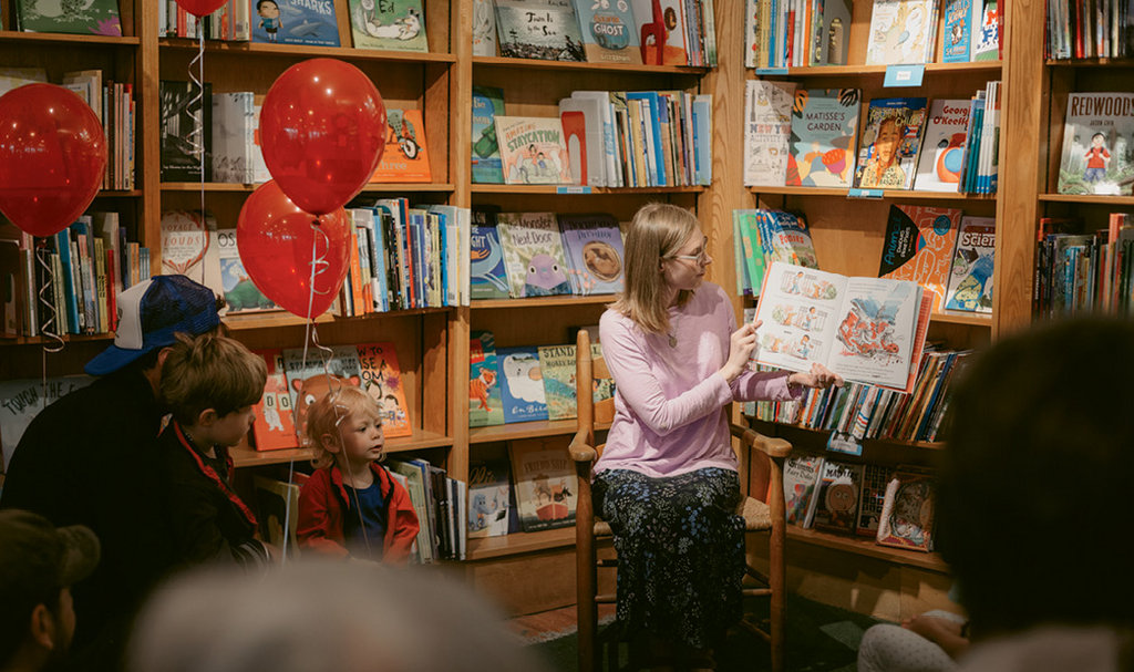 Kickoff: In May, Kath debuted her latest book, My Kicks, with a reading at Malaprop's in Asheville.