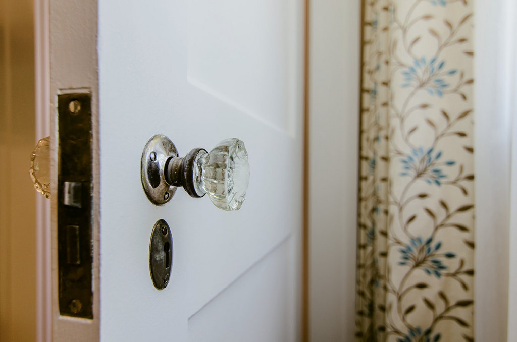 The doorknobs throughout are all original.