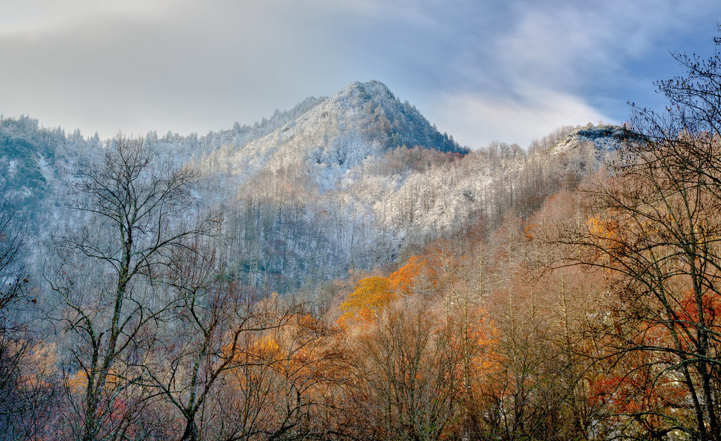 Finalist: Chimney Tops First Snow by Terry Barnes (Professional category)
