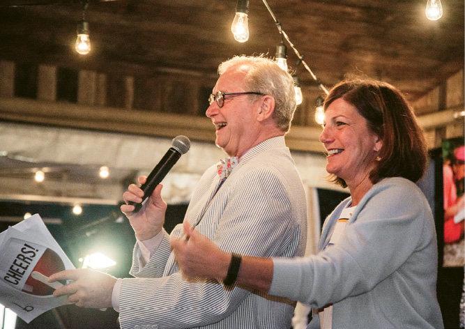 Bascom board member Jim Landon led the live auction.