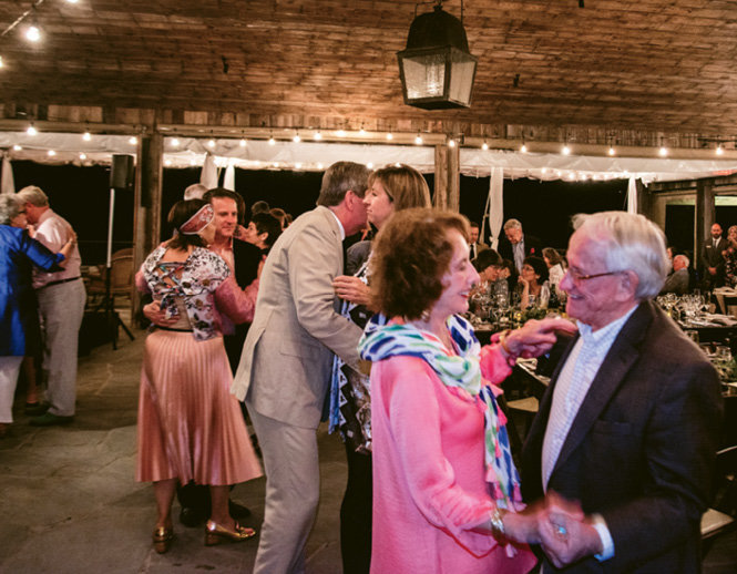 Ann Brissey and Bert Mobley were among the guests who enjoyed the gala dance party.