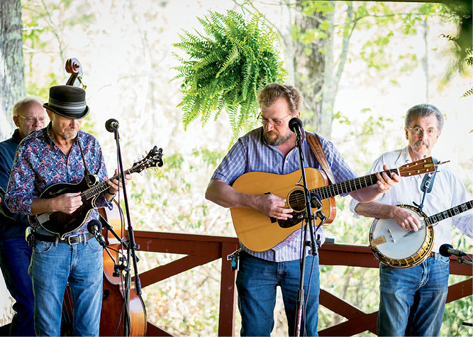 BearWallow, winner of the 2015 MerleFest Band Competition, provided live entertainment.
