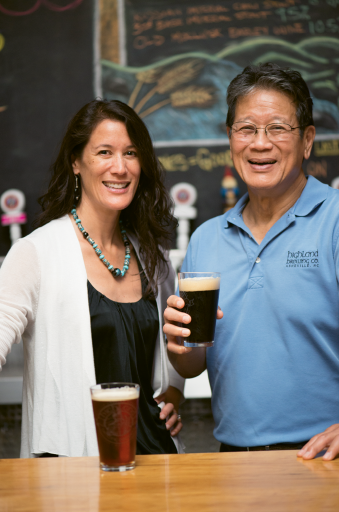 Passing the Torch - Ashburn with her father, Highland Brewing founder Oscar Wong