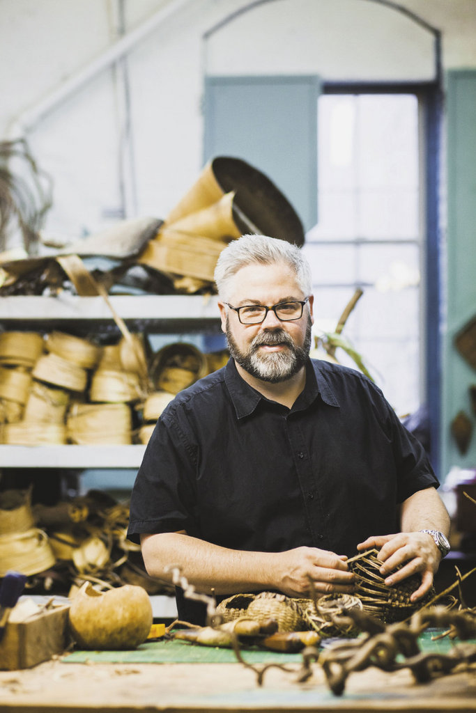 Revered for his sculptural baskets, Tommey has been named an Artist Under 40 to watch by the Smithsonian American Art Museum's Renwick Gallery.