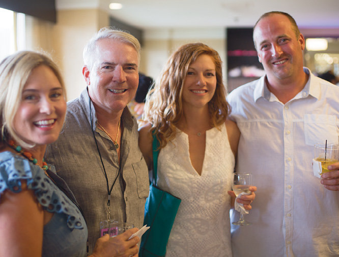 Letitia McKibbon, Steve Woolum, WNC's Katie Hild, and Danny McClinton