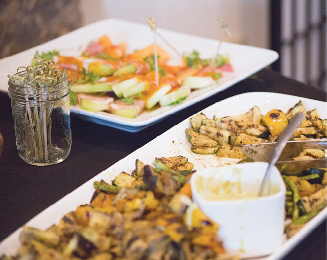 A spread of hors d'oeuvres was presented by Jaime's Creole Brasserie in Brevard.