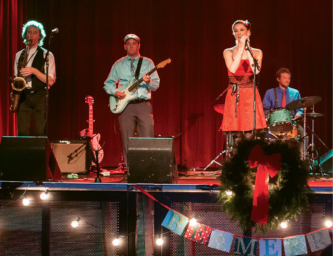 Jazz and swing outfit Virginia & the Slims entertained the crowd.