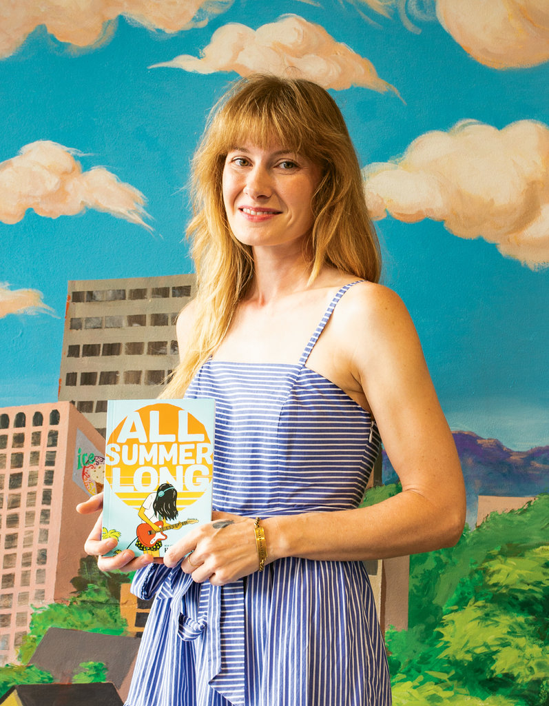 Larson's latest book, All Summer Long, which she both wrote and illustrated, was published in May and delves into the transitory uncertainty of youth.