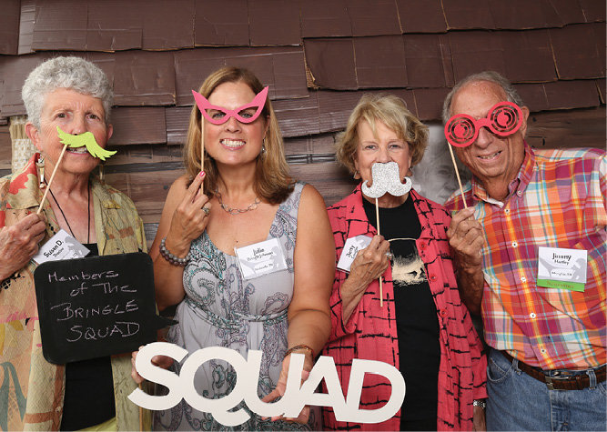 Susan Procter, Julia Johnson, Betty Douglas, and Jimmy Hartley in the photo booth