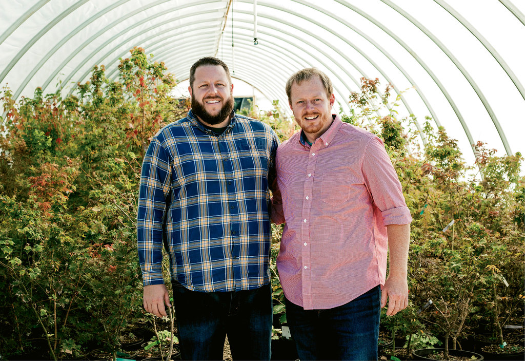 Plant Kingdom, from their nursery in Flat Rock, brothers Matt (left) and Tim Nichols run one of the largest Japanese maple tree operations in the country, propagating and shipping more than 1,000 cultivars.