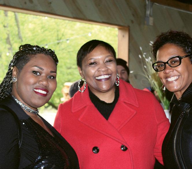 Alaysia Black Hackett, Darlene Carter, and Treva Williams