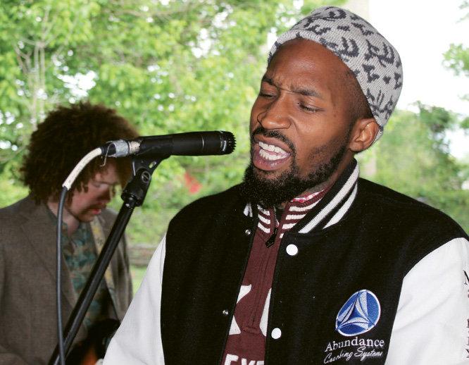 Hip-hop artist Doug Dewberry, aka Doug Dew, performed with Natural Born Leaders.