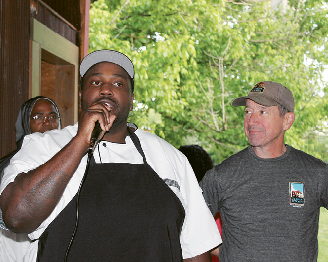 GO Executive Chef Instructor Gene Ettison and Chef Joe Scully, of Asheville's Corner Kitchen and Chestnut restaurants