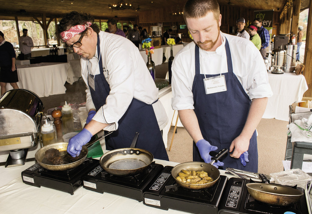 Chef Jay Horton and Sous Chef Eric Hickman with Cork & Cleaver at The Waynesville Inn