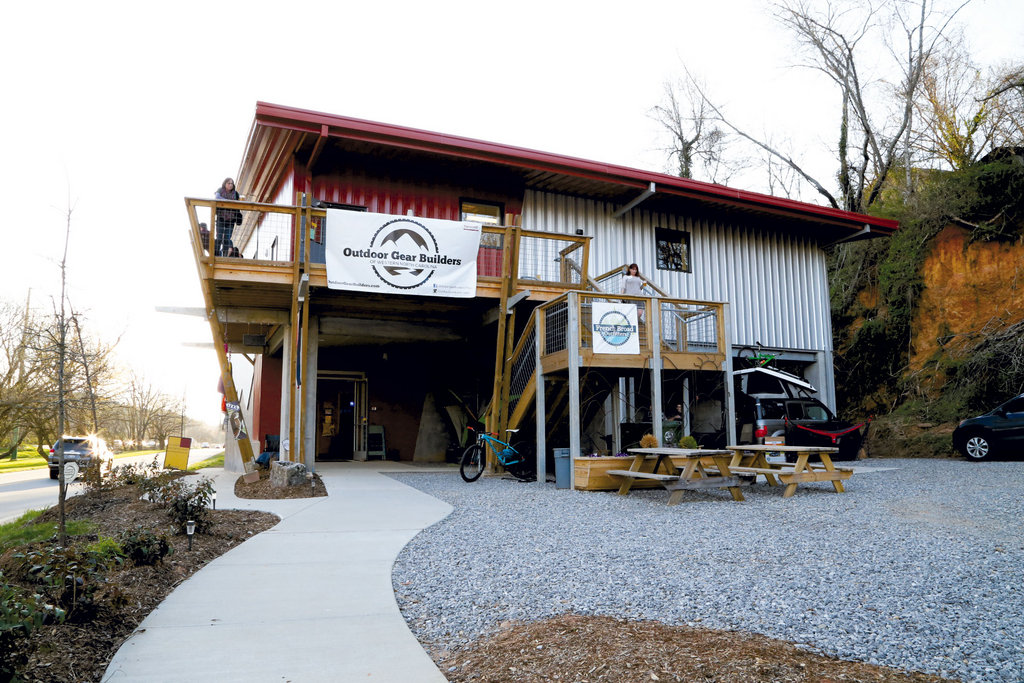 The VIP event was held at the new Smoky Mountain Adventure Center in Asheville.