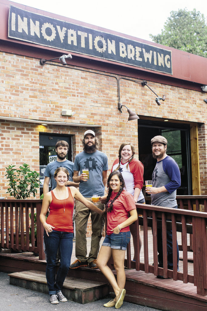 The crew at Innovation Brewing in Sylva doesn't let their relatively small size restrict their variety. Depending on the season, the brewery produces 20-some beers at a time.