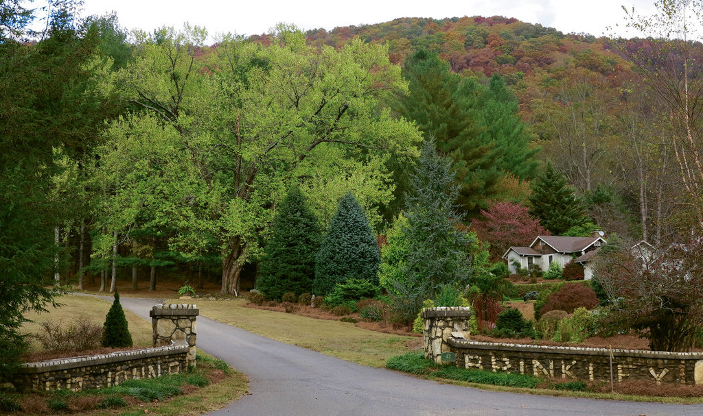 Brinkley's name still appears in the stone walls at the entrance of his former summer home