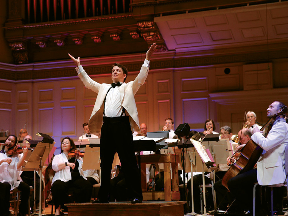 In the Spotlight: When he isn't spending summers in Brevard, Lockhart conducts the Boston Pops Orchestra (shown) and is principal conductor of the BBC Concert Orchestra.
