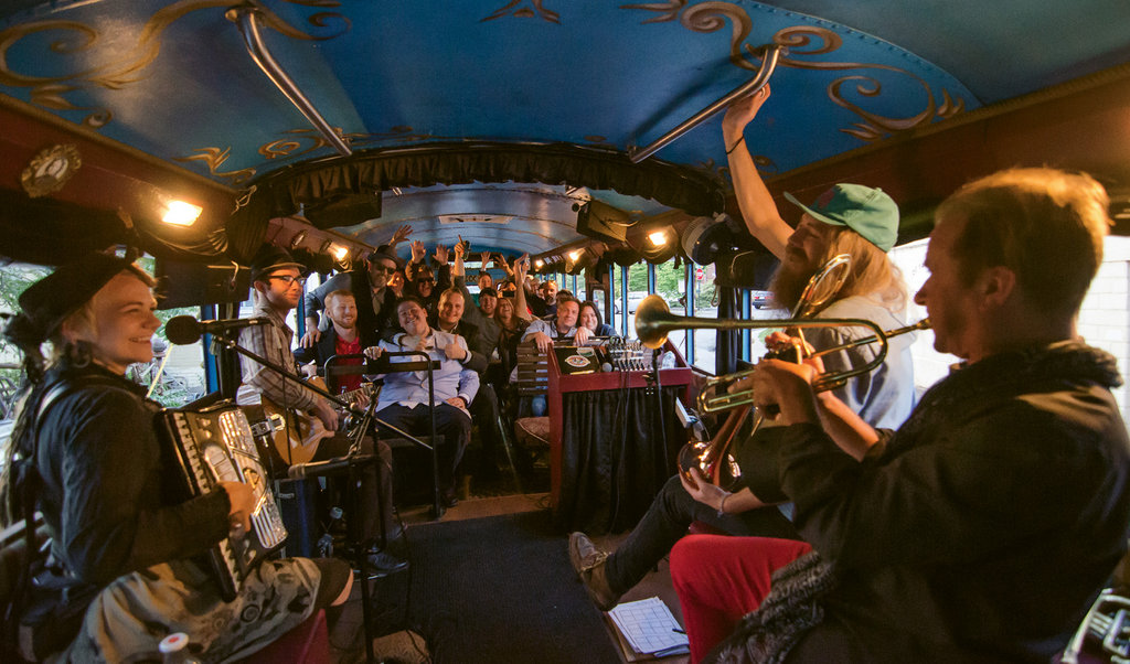 2. If you like music, alcohol, and parties on wheels, hop on the Band & Beer Bus Tour.