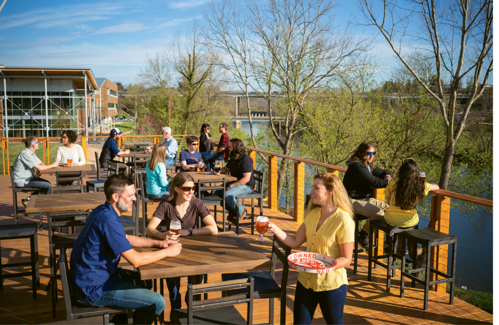 Today, at roughly the same spot in Asheville, New Belgium Brewery hosts its East Coast headquarters and supports sustainable river development