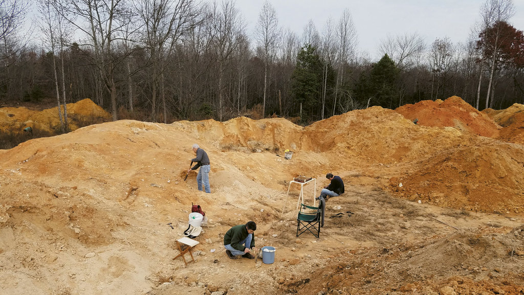 A Mountain Area Gem and Mineral Association field dig