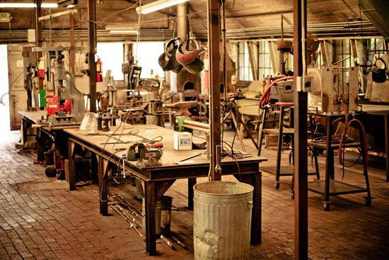 Inside the Blacksmith Shop