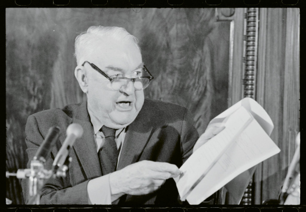 While generally known for his senatorial congeniality, Ervin could also prove a fiery inquisitor during hearings he chaired.