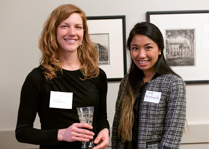 WNC Advertising Director Katie Hild with Leah Ricafrente