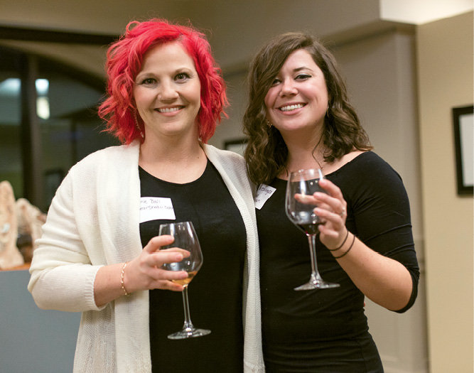 Guests sipped wines from Raffaldini Vineyards.