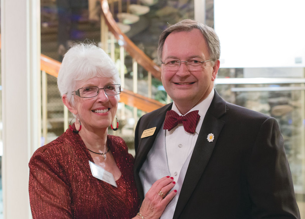 Judy Atchley-Benson with husband and  Community Foundation CEO McRay Benson