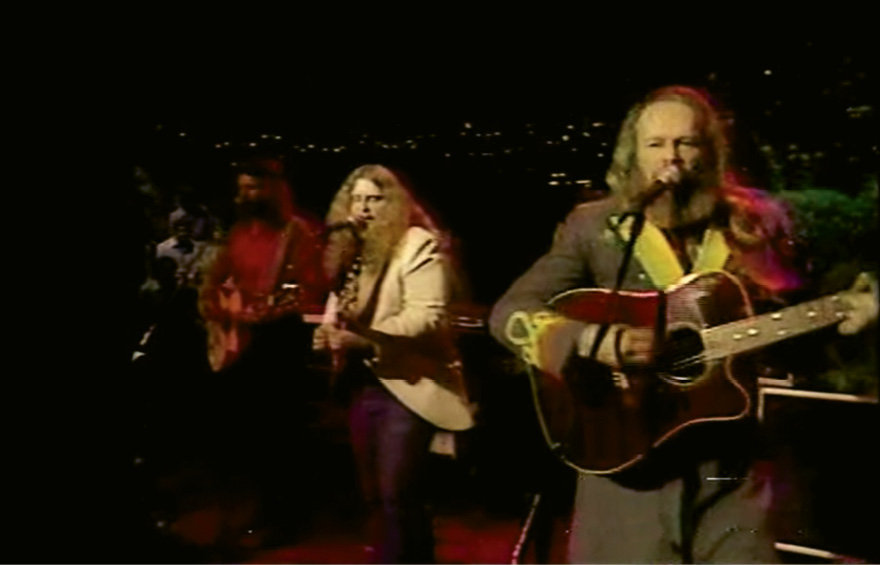 Haynes (center) with David Allan Coe (right) performing on Austin City Limits in 1984