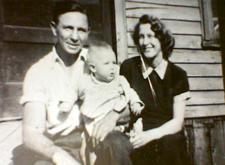 Roots Revisited: Lundy (shown here with her parents) grew up a city girl in Louisville, Kentucky, but was continuously drawn to the food and culture of where she was born: the small, rural Kentucky town of Corbin.