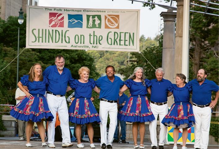 5. Cloggers twirl and fiddlers' fingers fly at Shindig on the Green