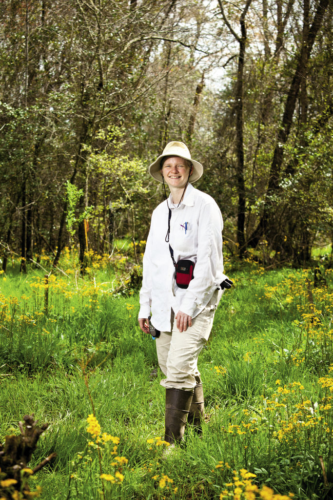 Megan Sutton, director of The Nature Conservancy's Southern Blue Ridge Program, plays a key role in bog conservation efforts.