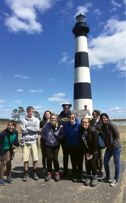 Alternative service trip to study bio-systems in the Outer Banks