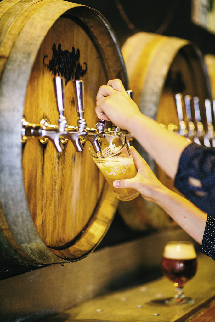 With an emphasis on Belgian and West Coast-style hoppy ales, Wicked Weed opened with a bang in late 2012. This October, the company opened a second Asheville location called the Funkatorium.