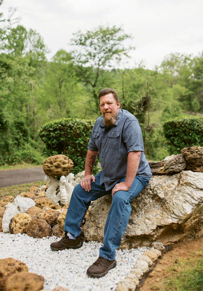 """for me, I don't really care so much how and when the stuff got here. it's more about the thrill of the search and the finding.""  —Rick Jacquot of the Mountain Area Gem and Mineral Association"