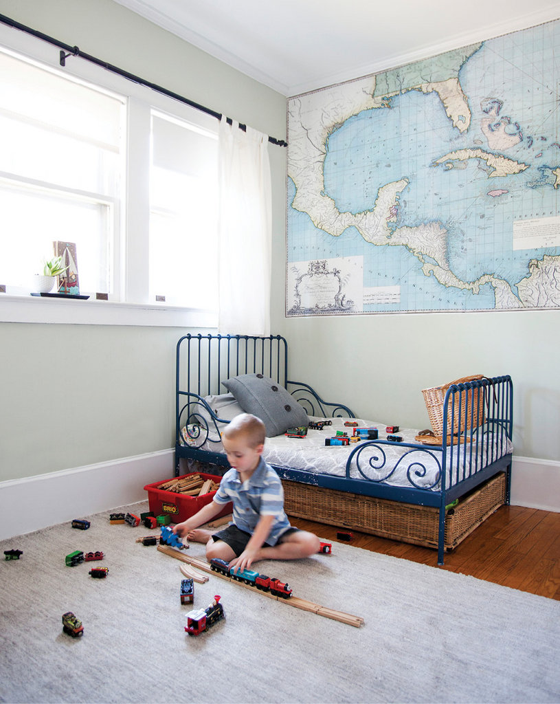 George's room encourages a sense of wonder, with a map of the West Indies adorning one wall.