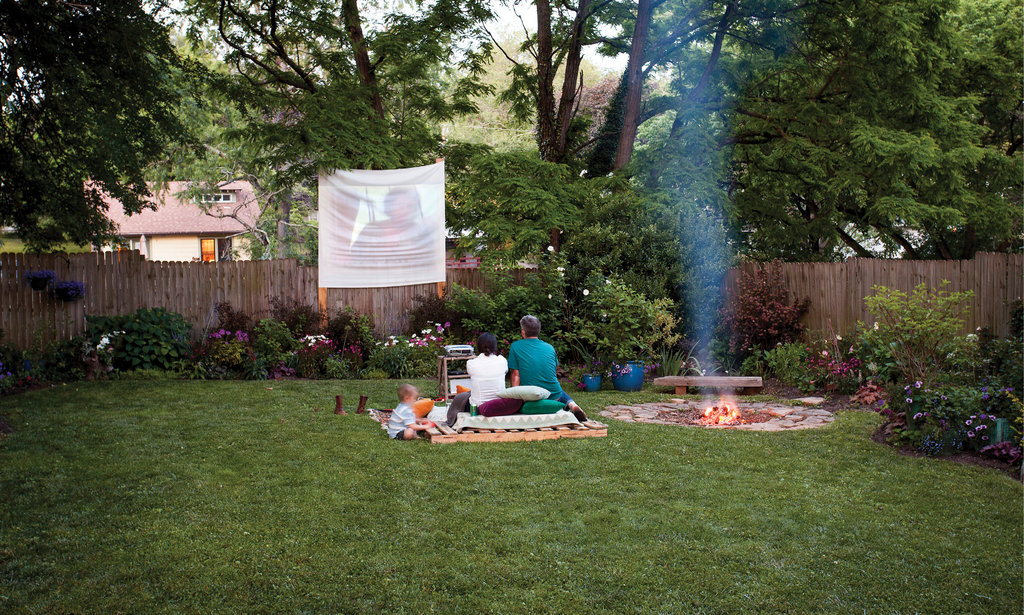 ...a makeshift screen for outdoor movie nights.
