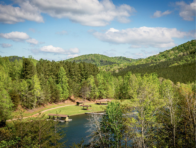 Blue Ridge Distilling's Camp Golden Valley  offered sweeping views of the South Mountains.