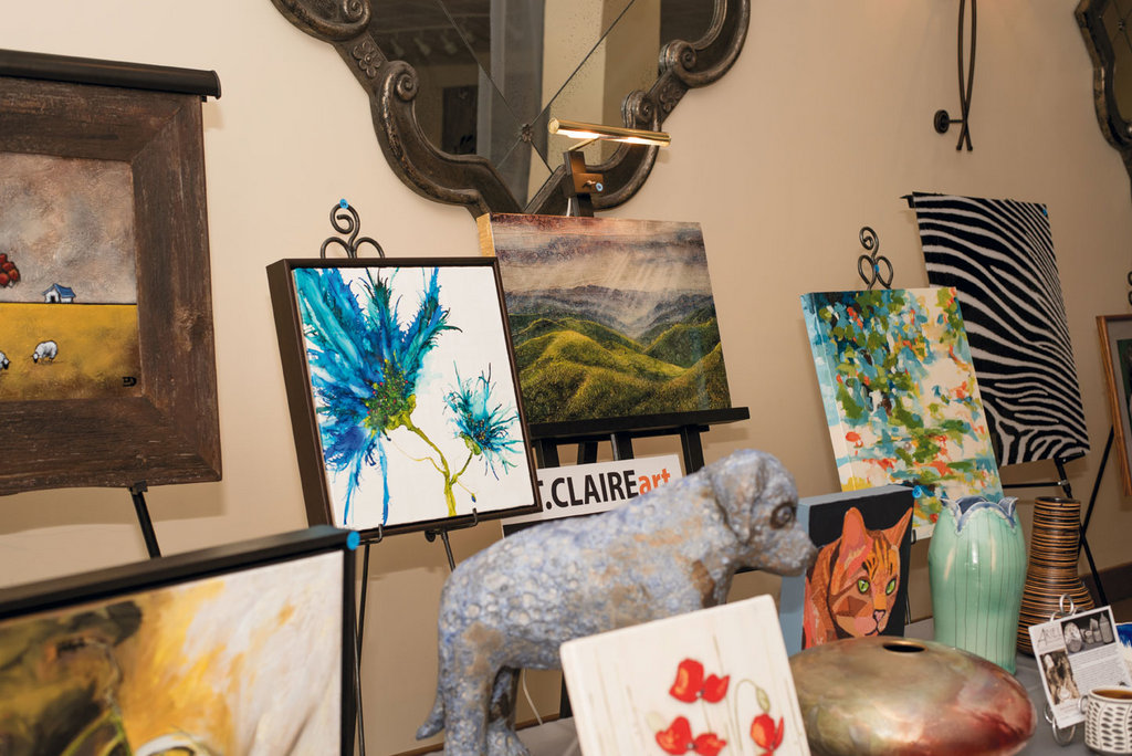 Local art enlivened the silent auction.