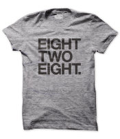 EIGHT TWO EIGHT T-shirt. Courtesy of Drew Findley